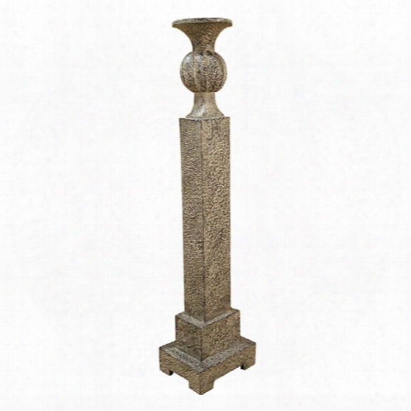 "Stone Column 28""candleholder"