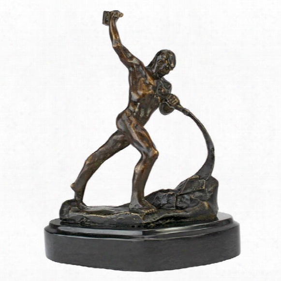 Strength Of Man Quality Lost Wax Bronze Statue