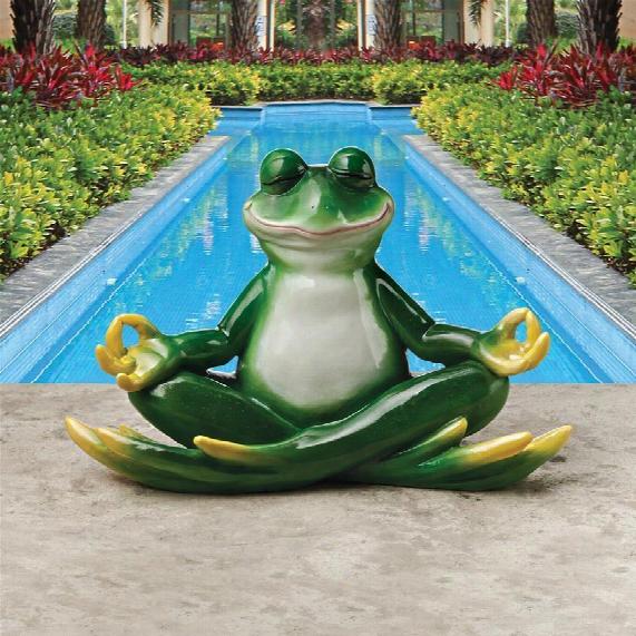 """Strike A Pose Zen Yoga Frog"""" Statue"""