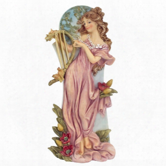 "Summer"" Art Nouveau Maiden Statue"