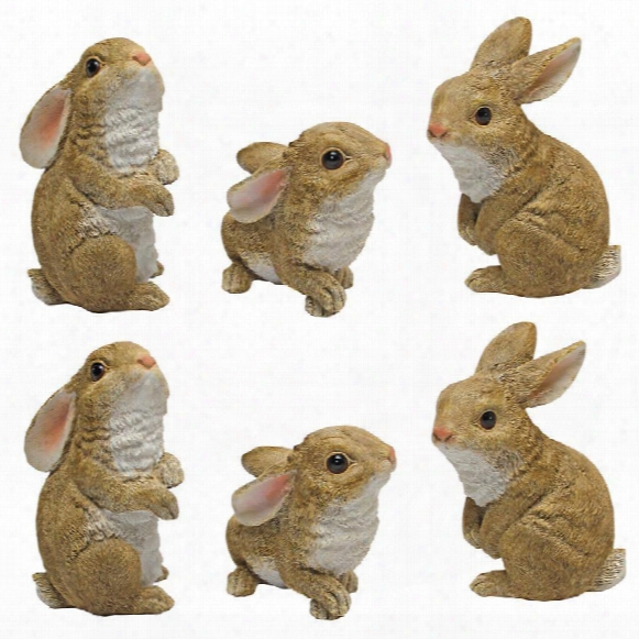 The Bujny Den, Garden Rabbit Statue: Set Of Six