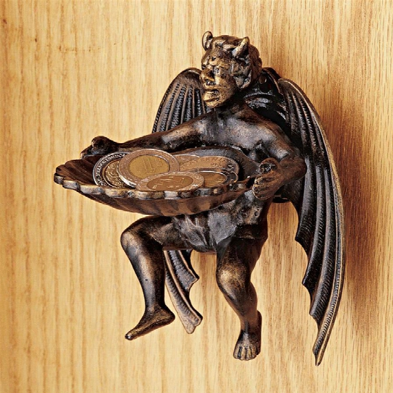 """The Devil Is In The Tax Collector"""" Cast Iron Wall Sculpture"""