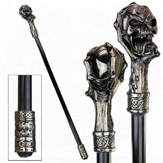 The Dragonsthorne Collection: Death's Grip Skull And Claw Walking Stick
