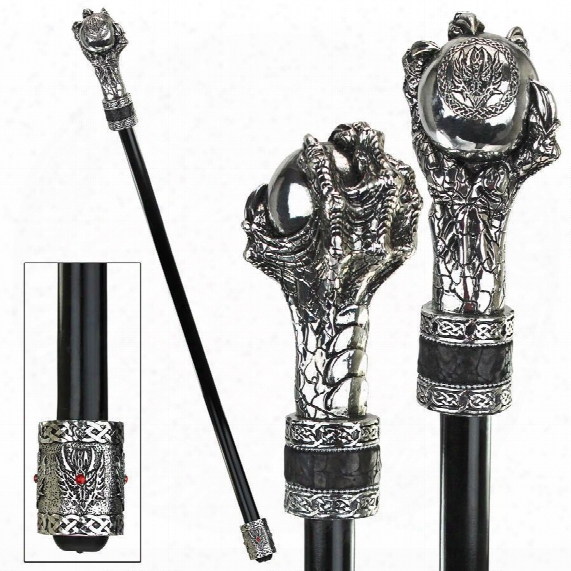 The Dragonsthorne Collection: Dragons Grasp Gothic Walking Stick