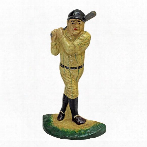 The Greatest Baseball Player Cast Iron Bookend And Sculptural Doorstop