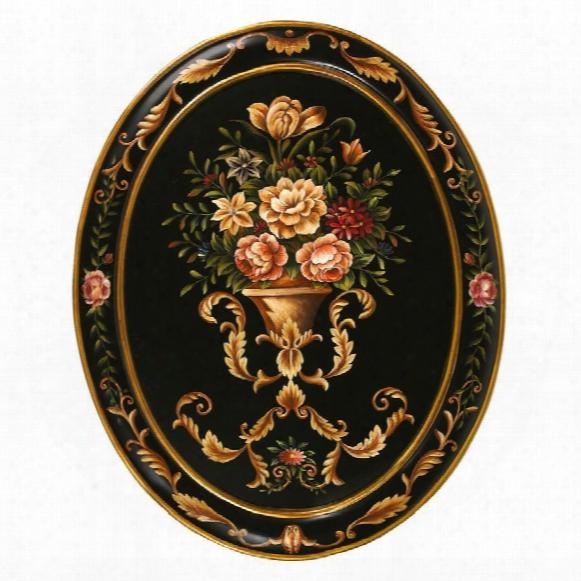 The Italian Garden Hand-painted Oval Wall Masterpiece