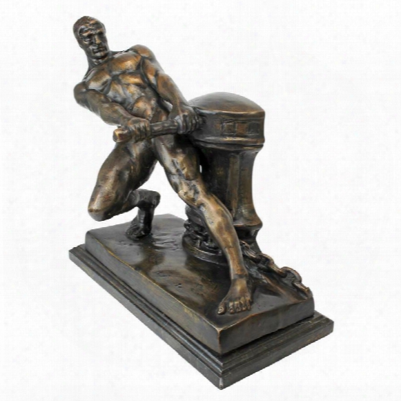 The Power Of Man Quality Lost Wax Bronze Statue: 1915