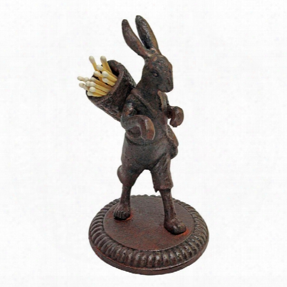 The Wandering Rabbit Cast Iron Matchstick Sculpture