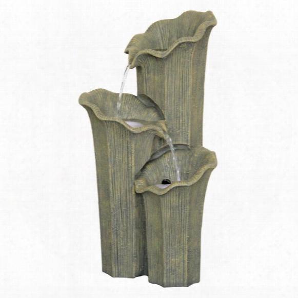 Three Lilies Cascading Sculptural Fountain