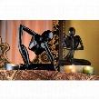 Authentic Foundry Iron Balinese Yogi Sculptures: Set