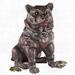 Boss, the Sitting British Bulldog Collectors' Still Action Die-Cast Iron Coin Bank