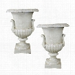 Chateau Elaine Authentic Iron Urn: Medium Set of 2