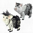 """Lace and Lard"""" and """"Porker on Patrol"""" Pig Statues"""