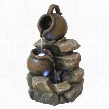 LaTaverna Cascading Urns Illuminated Garden Fountain