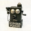 Number Please, Old Fashioned Crank Phone Authentic Foundry Iron Mechanical Coin Bank