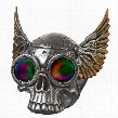 Road Rash Winged Biker Skull Statue