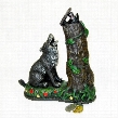 Wolf and Squirrel Collectors' Die Cast Iron Mechanical Coin Bank