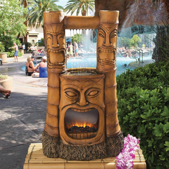 Tiki Gods Of Fire And Water Fountain