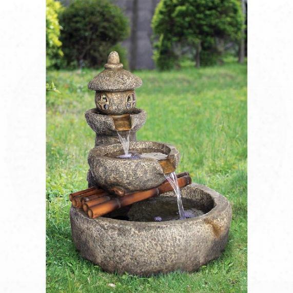 Tranquil Springs Pagoda Garden Fountain