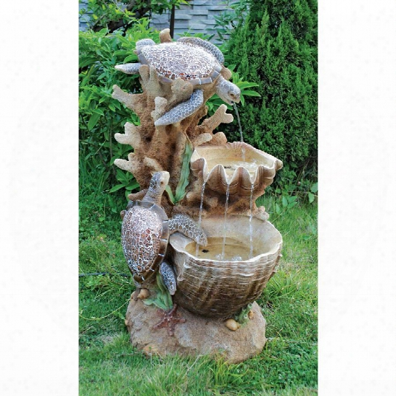 Turtle Cove Cascading Sculptural Fountain