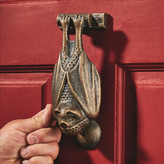 Vampire Bat Foundry Cast Iron Door Knocker