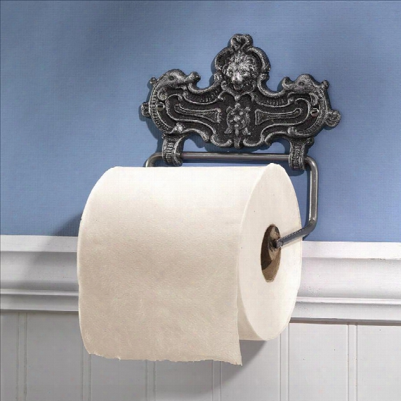 Victorrian Lion Bathroom Cast Iron Toilet Paper Holder
