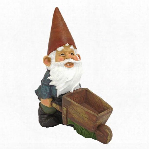 Wheelbarrow Willie: Garden Gnome Statue