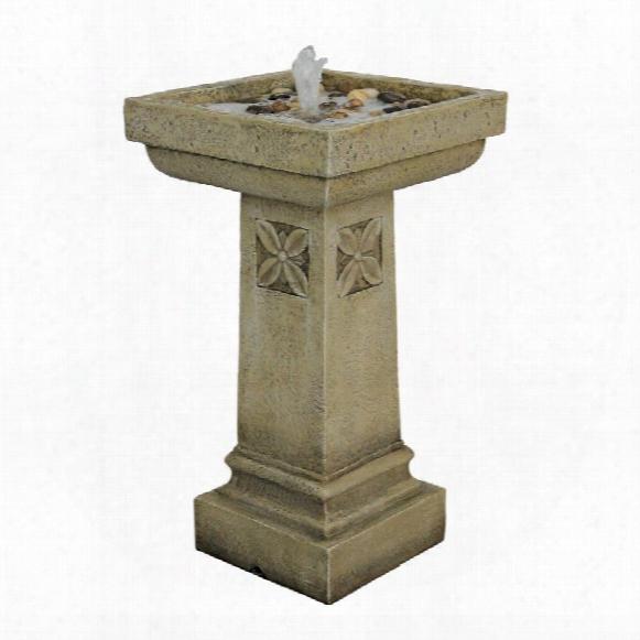 White Chapel Manor Pedestal Garden Fountain