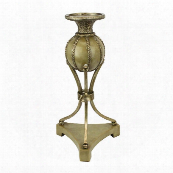 "Woven Orb 13""candlestick"
