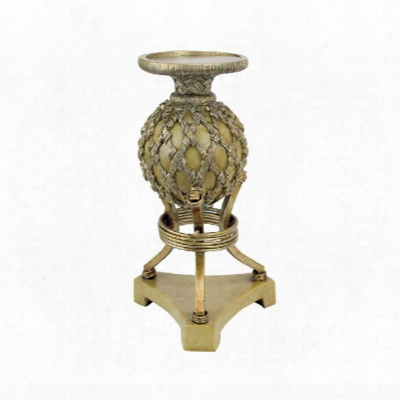 "Woven Orb 9""candlestick"