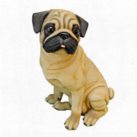 Wrinkles, The Pug Dog Statue
