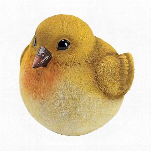 "Yellow Warbler Burly Bird"" Statue"