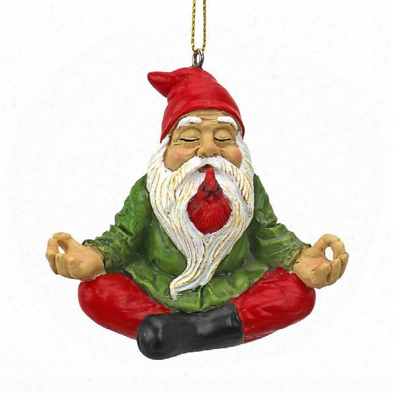 Zen Gnome Holiday Ornament
