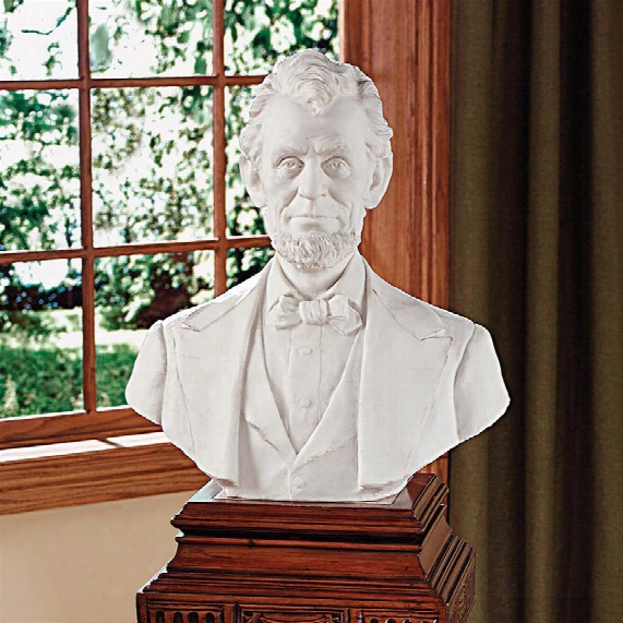 """Abraham Lincoln Memorial Bust"""" Bonded Marble Resin Statue"""