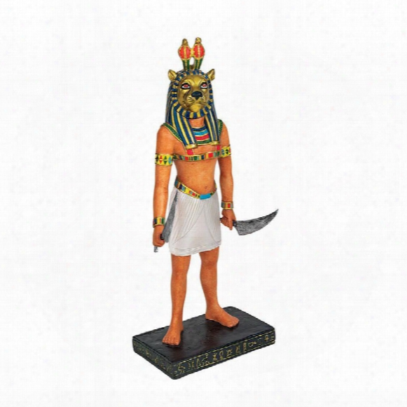 Antiquated Egyptian Gods Statue Collection: Mahes