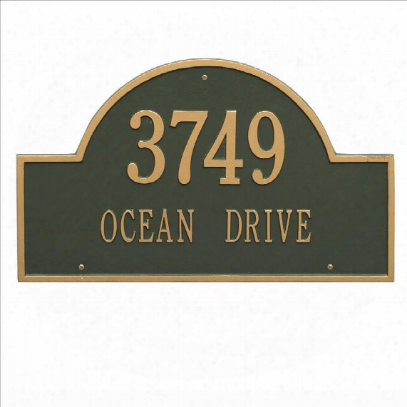 Arch Address Marker - Estate Wall Mount - Green
