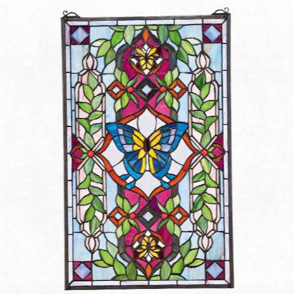 Butterf Ly Utopia Tiffany-style Stained Glass Window