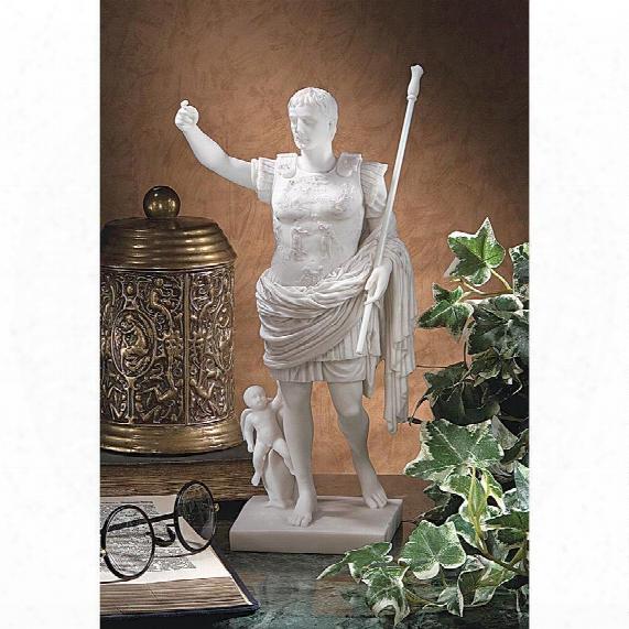 Caesar Augustus Of Prima Porta Bonded Marble Statue