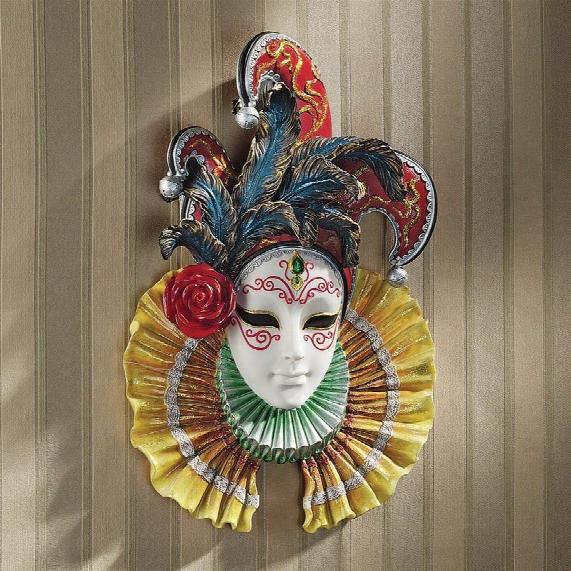 Colombina Jester Venetian Wall Mask