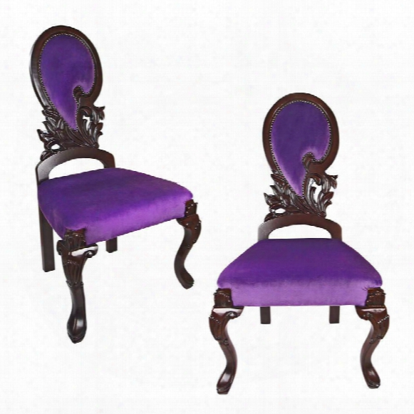 Couture Regency Ornate Accent Chair: Set Of Two