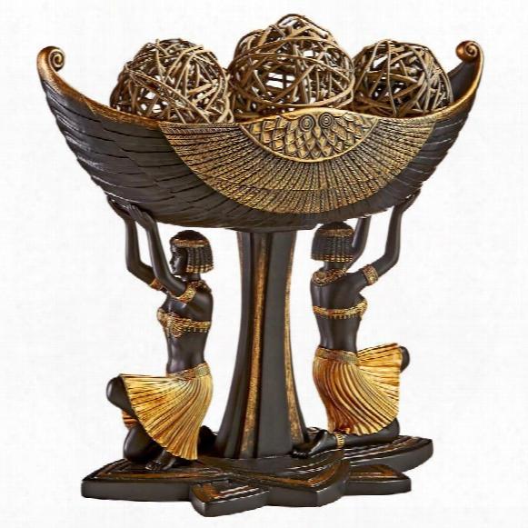 Egyptian Maidens Voyage Sculptural Pedestal Urn