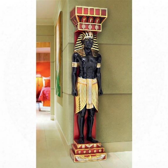 Egyptian Scribe Telemon Wall Sculpture