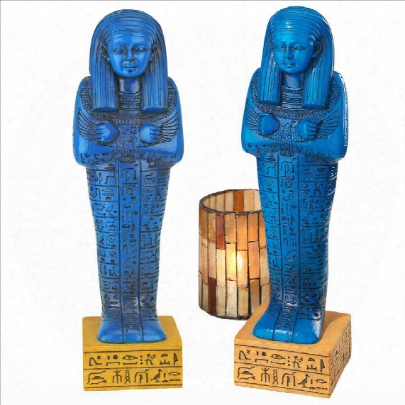 Egyptian Ushabti Grave God Statue: Set Of Two