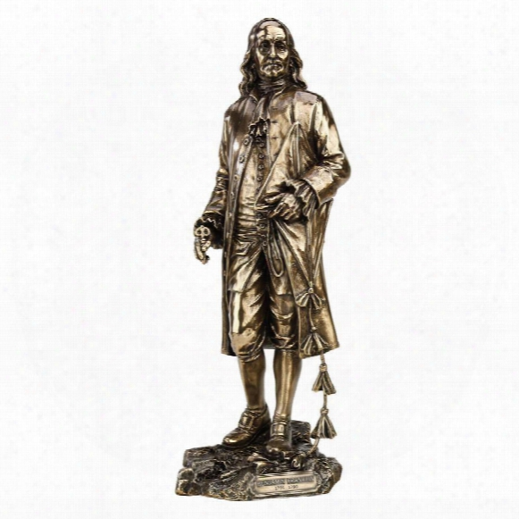 Founding Fathers: Franklin And Washington Statues: Benjamin Franklin