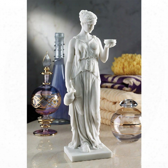 Hebe, The Goddess Of Youth Bonded Marble Resin Statue