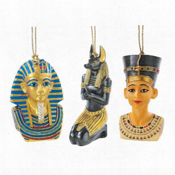 Icons Of Ancient Egypt Holiday Ornament Collection: Set Of Six