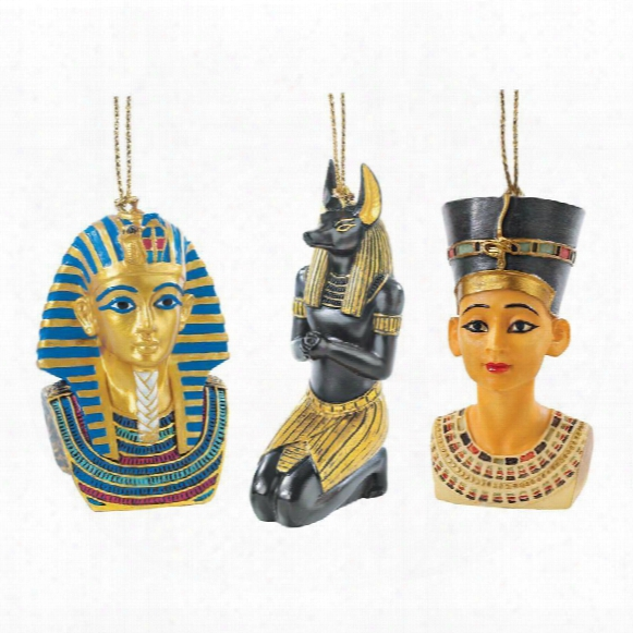 Icons Of Ancient Egypt Holiday Ornament Collection: Set Of Three