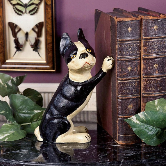 Iron Terrier Doorstop/bookend: Set Of Two