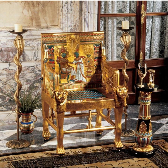 King Tutankhamen's Egyptian Throne Chair