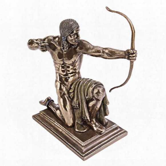 "Kneeling Indian With Drawn Bow"" Statue"